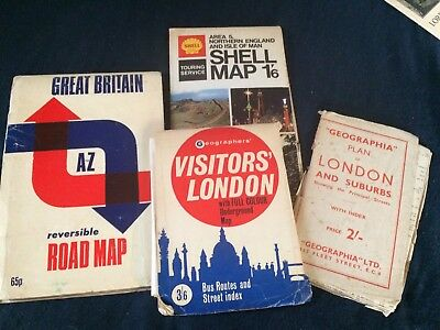 2 Vintage Maps Of London And Touring Maps
