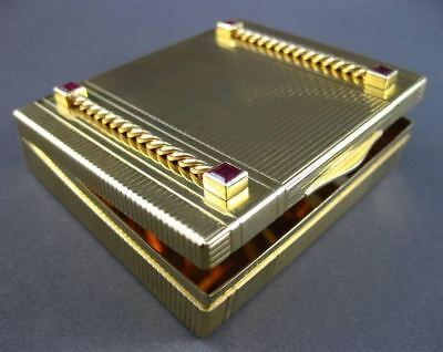 Antique Large 2.50Ct Aaa Ruby 14Kt Yellow Gold Handcrafted Treasure Box #1911