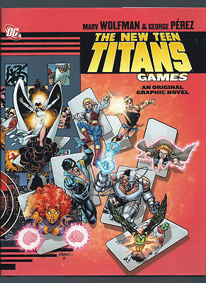 THE NEW TEEN TITANS: GAMES - DC Comics HC Hardcover Graphic Novel (Marv Wolfman)