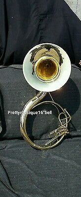 """Sousaphone 16""""bell Brand New Of Pure Brass Polish +Case+Free Shipping(Customise)"""