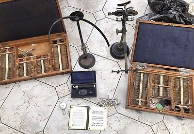 Vintage Retro Ophthalmic Equipment - 8 Separate Pieces