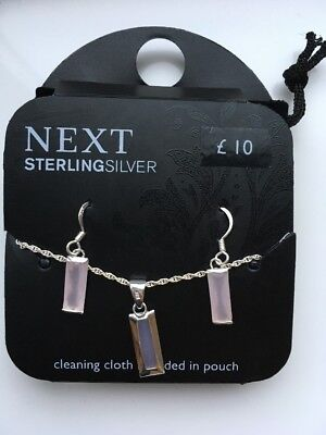 Sterling Silver Next Necklace And Earrings Ser