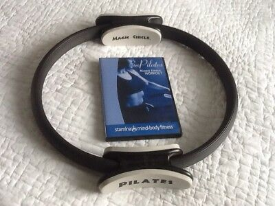 Pilates Double Handle Ring - Dual Grip Magic Circle + Magic Circle Workout DVD