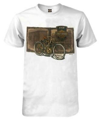 Harley-Davidson Men's 115th Anniversary Vintage Film Short Sleeve T-Shirt, White
