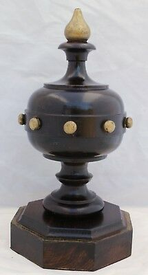 Antique Wood Post Finial Home Architectural Decor Piece