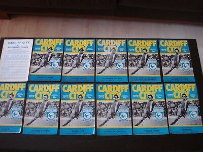 Cardiff City Home Programmes 1977/78