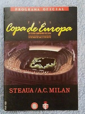 1989 - EUROPEAN CUP FINAL PROGRAMME - STEAUA BUCHAREST v AC MILAN