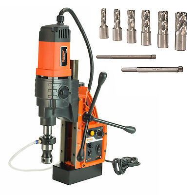 """Cayken® KCY-48-2WDO 1.8"""" Magnetic Drill Press with 7PC 1"""" Small Annular Cutters"""