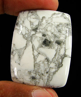 75.45 Ct Natural Howlite Loose Gemstone Beautiful Cabochon Stone - 16503