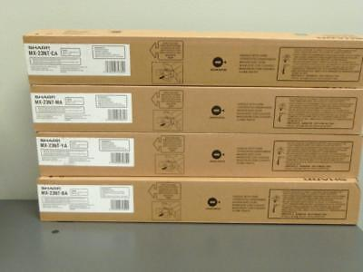New Genuine SHARP MX-23NT-BA  MX-23NT-YA  MX-23NT-MA  MX-23NT-CA Color Toner Set