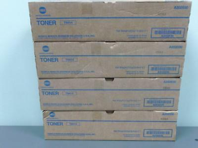 4 New Geniuine Konica Minolta TN414 Toner Cartridges A202030