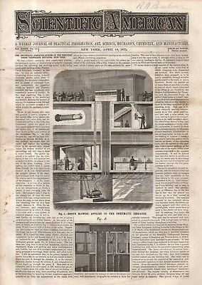 1875 Scientific American April 10-Strasbourg Cathedral; Smith's windmill;Germany