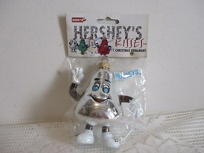 1998 Christmas Hershey's Chocolate Kisses Ornament Silver New in Package