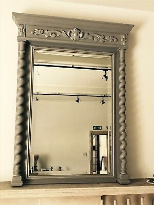 Beautiful French Antique Hand Painted Mirror