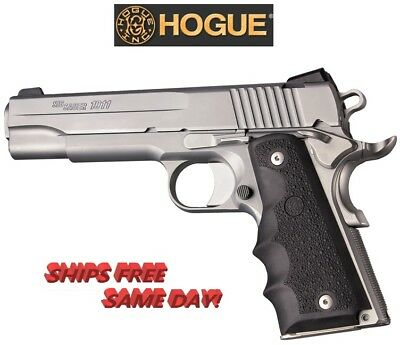 HOGUE 1911 Govt  Model Black Rubber Grip with Finger Grooves # 45000 New!