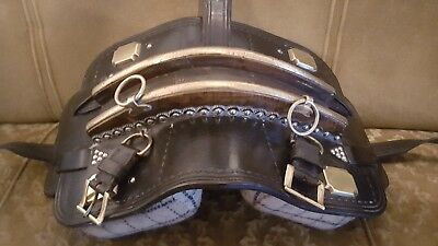 heavy horse  traditional  cart harness pad   shire suffolk punch   clydesdale