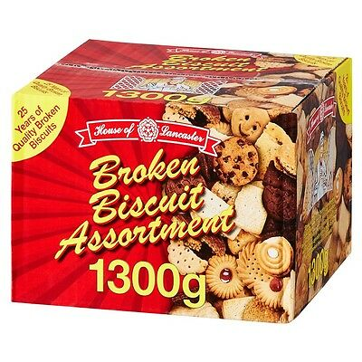 House Of Lancaster Assorted Broken Biscuits 1300G Variety Box Assortment New
