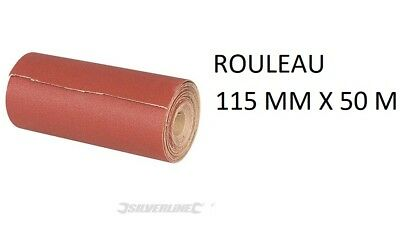 Rouleau Abrasif Corindon 115 Mm X 50 M Grain 40 60 80 120 180 240 Poncage Poncer