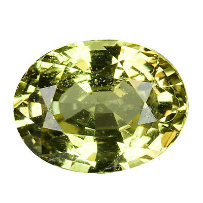 1.545Cts Marvelous luster green natural chrysoberyl oval video in description