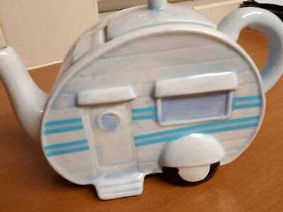 Decorative caravan teapot