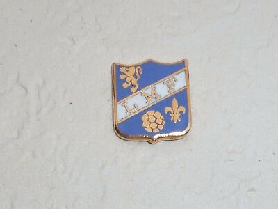 Pin's FOOTBALL, BLASON L.M.F., signe A.B.
