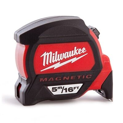 Milwaukee Premium Magnetic 5m/16ft Tape Measure & Free Keychain | 4932459374 / 4