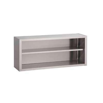 Placard ouvert mural inox 800x400x850mm GASTRO M