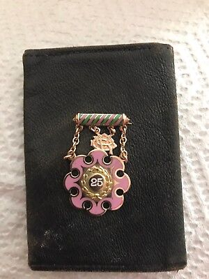 Antique Odd Fellows Rebekah Badge Pin Medal 1898 14 K Gold & Enamel