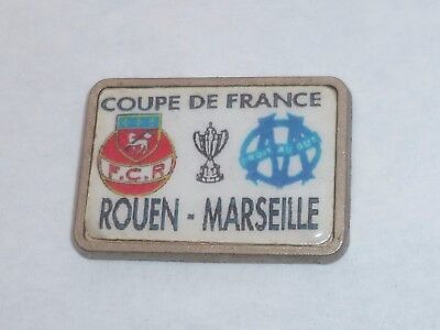 Pin's FOOTBALL, COUPE DE FRANCE, ROUEN - MARSEILLE