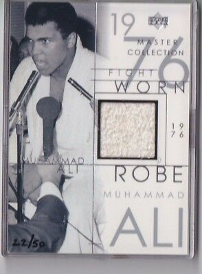 2000 Master Collection MUHAMMAD ALI FIGHT WORN ROBE 1976 vs Dunn /50 RARE NICE