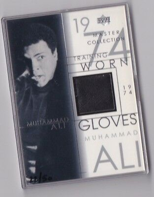 2000 Master Collection MUHAMMAD ALI TRAINING GLOVES 1974 vs FOREMAN RARE /50