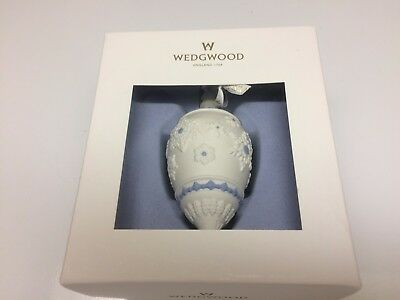 Wedgwood Snowflake Teardrop Ornament Blue/White Porcelain Limited Edt. New