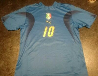 Italy World Cup 2006 winning home Puma football shirt TOTTI 10 large