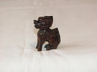 Antique/Vintage Japanese Carved Wooden Netsuke. A KIRIN. Very good condition.