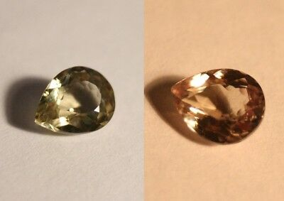 1.87ct Colour Change Diaspore From Turkey - Flawless Pear Cut Gem