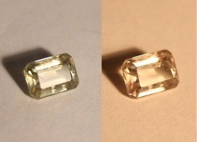 1.76ct Colour Change Diaspore From Turkey - Clean Emerald Cut Gem
