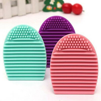 Egg Cleaning Glove MakeUp Washing Brush Scrubber Board Cosmetic Brush Cleaner Y8