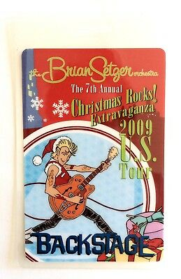 2007 Brian Setzer Orchestra 6th Christmas Extravaganza All Access Laminate