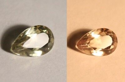 2.14ct Colour Change Diaspore From Turkey - Flawless Pear Cut Gem