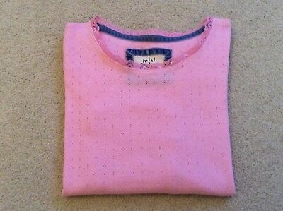 Mini Boden Pink Pointelle Top Age 9-10 Years