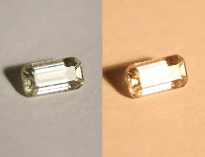 1.02ct Colour Change Diaspore From Turkey - Flawless Emerald Cut Gem