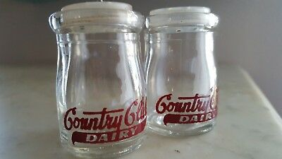 Vintage Country Club Dairy Salt and Pepper Shaker- Fairmont- Kansas City, MO