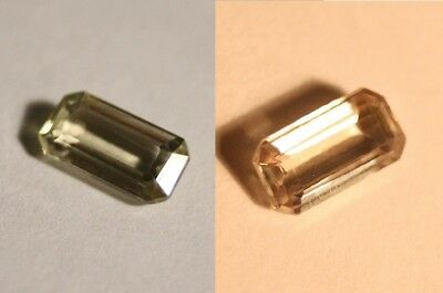 1.4ct Colour Change Diaspore From Turkey - Flawless Emerald Cut Gem