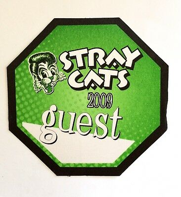 STRAY CATS 2009 Green Guest Pass. BRIAN SETZER!!