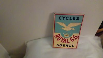 Plaque tole agence cycles royal