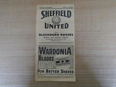 Sheffield United V Blackburn Rovers 1947-48
