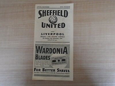 Sheffield United V Liverpool 1947-48