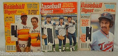 3 Issues of Baseball Digest Magazine 1980