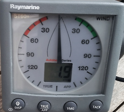 Raymarine st60+ Wind head unit. In lovely condition with sun cover