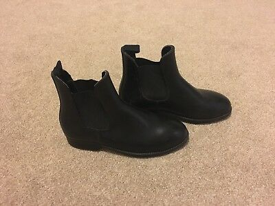 Equestrian Steele Toe Cap Black Jodhpur Boots Size Uk 3 Horse Riding shows